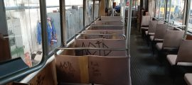 tramvaie vandalizate