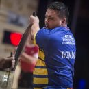 Team Romania competes during the STIHL TIMBERSPORTS® Team World Championship at the Echo Arena in Liverpool, Great Britain on October 19, 2018.